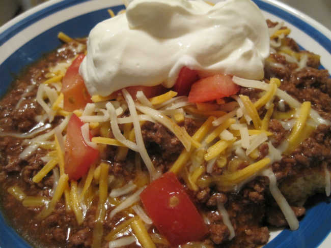 OG Classic Ground Beef and Mushroom Chili