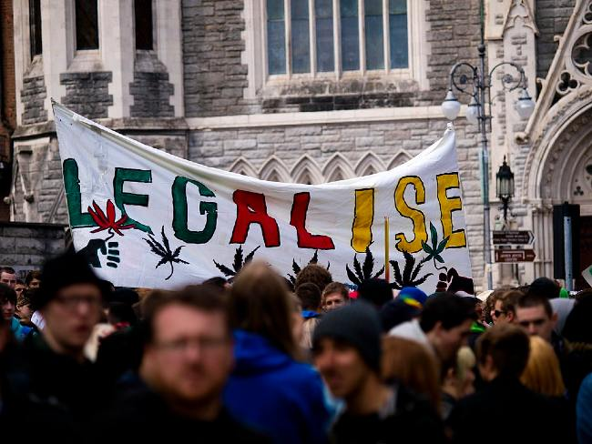 Protest for cannabis legalization in Dublin