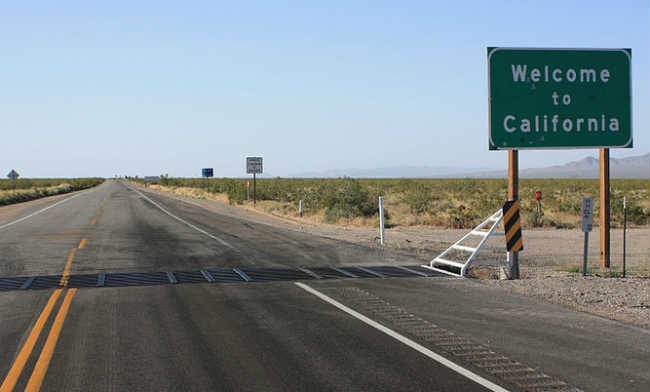 California Nevada Border