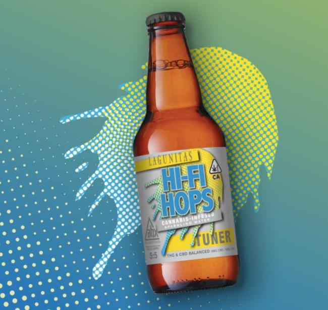 A bottle of Lagunitas Hi-Fi Hops with 5mg THC and 5 mg CBD