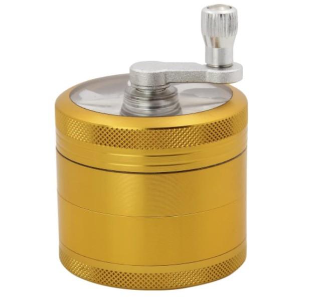 A hand crank grinder