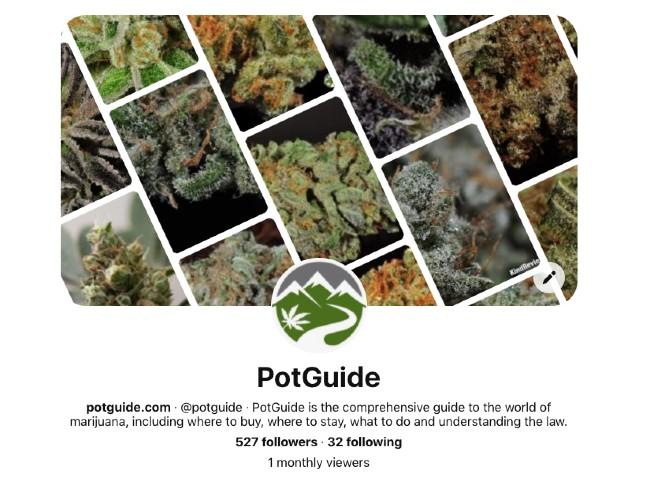 PotGuide's Pinterest page